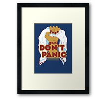 The Towel will save us! Framed Print