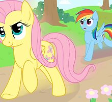 Never race against Fluttershy by FalakTheWolf