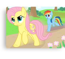 Never race against Fluttershy Canvas Print