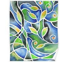 Whimsical Garden Organic Decor IV Poster