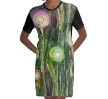"""Garden of Light"" Graphic T-Shirt Dress"