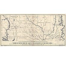 0071 Railroad Maps Map of the route surveyed from the Mississippi at Lake Providence in Louisiana to the great bend of Red river at Fulton in Photographic Print