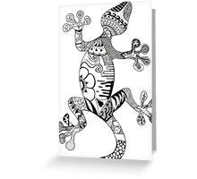 Lizard Senses Greeting Card