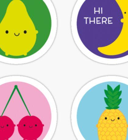 Kawaii Fruit Sticker
