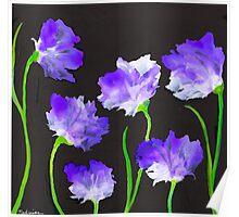 """""""Purple Iris Passion"""" Unique, Original Artist's Design! Poster"""