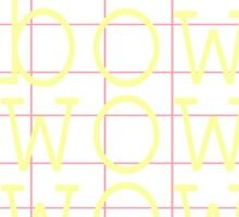 pink/yellow bow wow wow Sticker