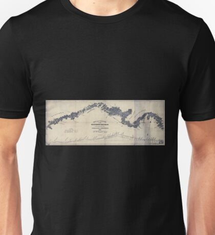 0269 Railroad Maps Map and profile of the Gettysburg Rail Road as surveyed by order of the legislature of Pennsylvania Unisex T-Shirt
