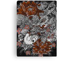 Koi fish and koi dragon Canvas Print