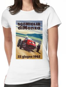 """MONZA GRAND PRIX"" Vintage Auto Racing Print Womens Fitted T-Shirt"