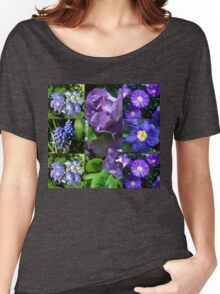 Floral Collage Featuring Fragrant Floribunda Roses Women's Relaxed Fit T-Shirt