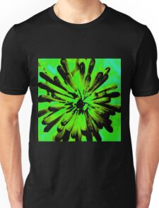 Green + Black Painted Flower Unisex T-Shirt
