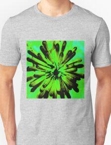 Green + Black Painted Flower Unisex T-Shirt