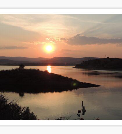 Summer Sunset at Unity Lake Sticker