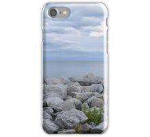 rocky lakeshore in Milwaukee iPhone Case/Skin