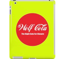 wolf cola closure iPad Case/Skin