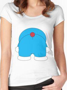 Bottom Doraemon Women's Fitted Scoop T-Shirt