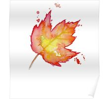 Autumn Leaves / Fall Leaf - Watercolor Painting - Tshirts + More! Halloween Jonny2may / J2Art Poster