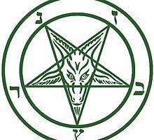 Green pentagram by gufanda