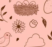 Robin Egg Pink Sticker