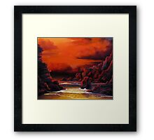 Red Sky Sunset Framed Print