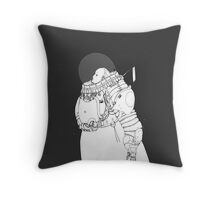 Space Samurai  Throw Pillow