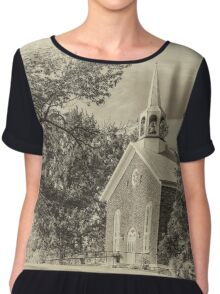 South Bay United Church - sepia Chiffon Top