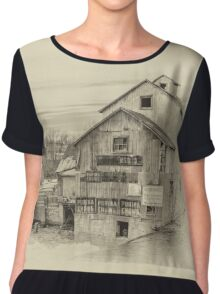 The Old Mill - sepia Chiffon Top