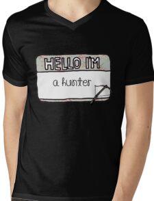Hello I'm [A Hunter] Mens V-Neck T-Shirt