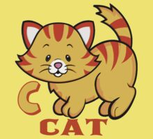 C is for Cat Kids Tee