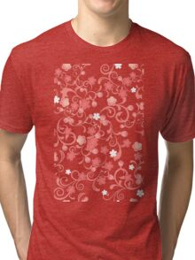 Abstract Cherry Blossoms Tri-blend T-Shirt