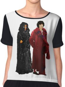 Doctor Who - Fourth Doctor and The Master Chiffon Top