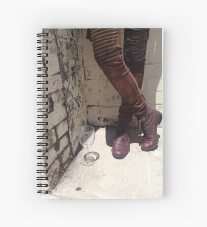 Boots and Glass Spiral Notebook
