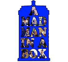 A mad man in a box Photographic Print