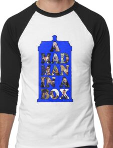 A mad man in a box Men's Baseball ¾ T-Shirt