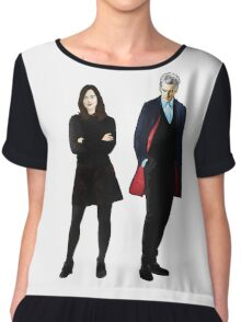 The Doctor and Clara Chiffon Top