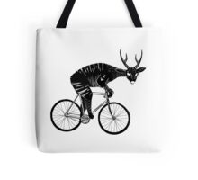 Deer & Bicycle Tote Bag