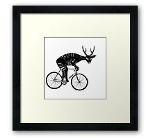 Deer & Bicycle Framed Print