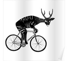 Deer & Bicycle Poster