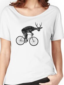 Deer & Bicycle Women's Relaxed Fit T-Shirt