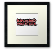 Backyard Wrestler Framed Print