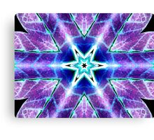Purple Blue Psychedelic Flower Canvas Print