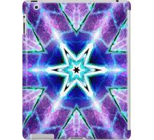 Purple Blue Psychedelic Flower iPad Case/Skin