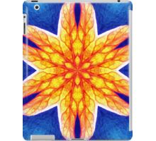 Blue Yellow Psychedelic Flower iPad Case/Skin