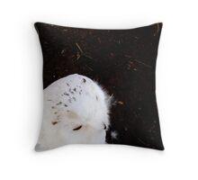White OWL Throw Pillow