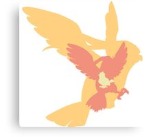 Simplistic Pidgey evolution line Canvas Print