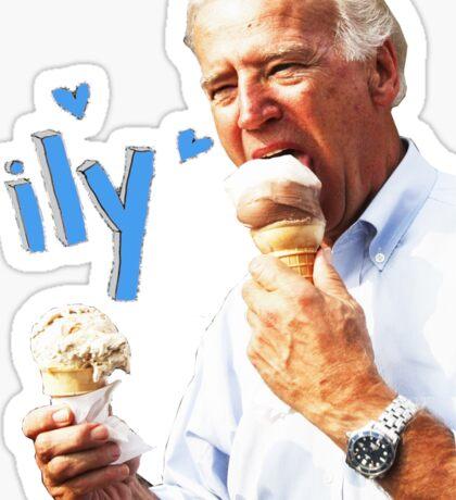 Joe Biden Eating Ice Cream Sticker