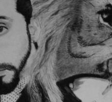 Avi and Lion Sticker