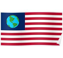 flag of earth Poster