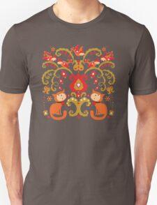 Rissian Kitties and Birds Love Tree. Unisex T-Shirt