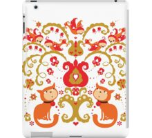 Rissian Kitties and Birds Love Tree. iPad Case/Skin